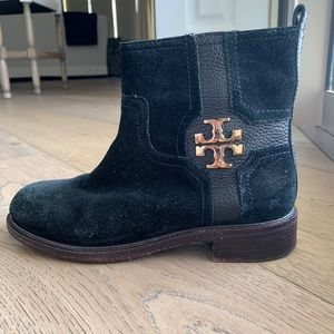 Black Tory Burch Ankle Booties